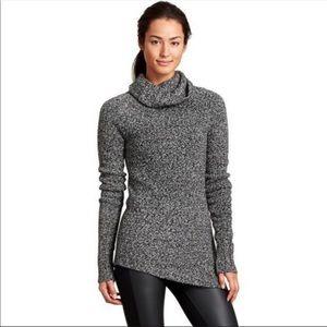 Athleta Brindle Asym Wool Turtleneck Sweater
